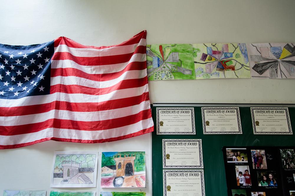 Ici, les élèves apprennent l'anglais dès la maternelle. École aujourd'hui, Paris.  Commande pour Télérama.