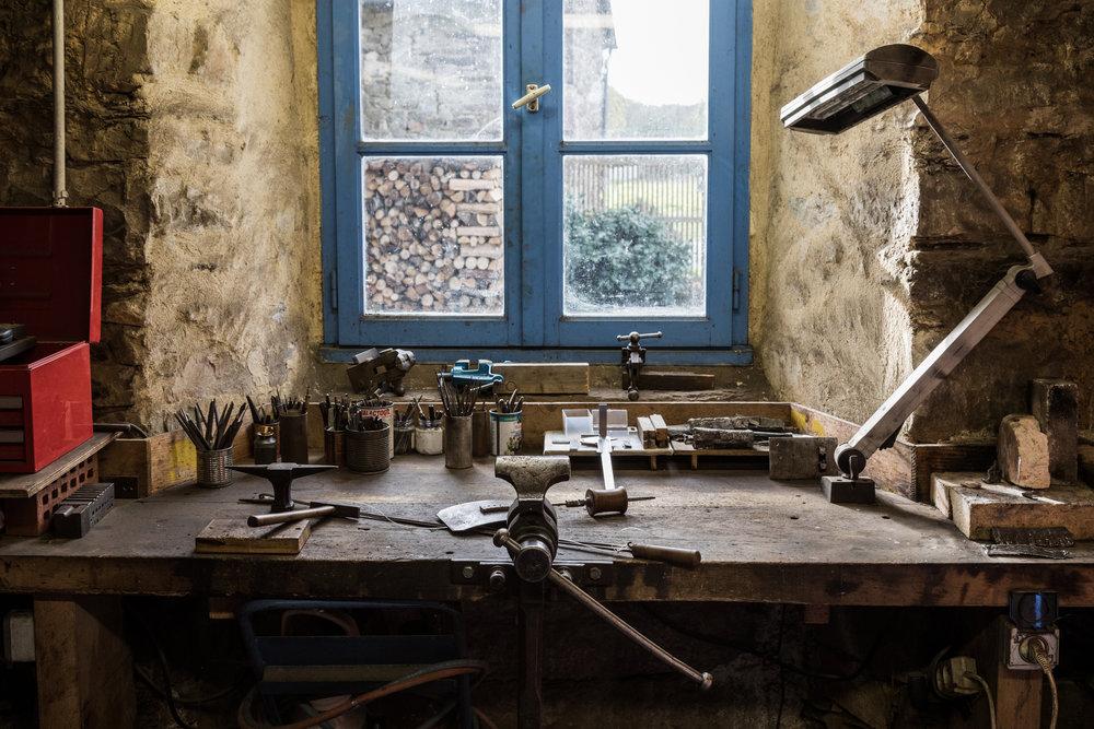 Dans l'atelier de Ludovic Marsille, Meilleur Ouvrier de France, serrurier 2015.