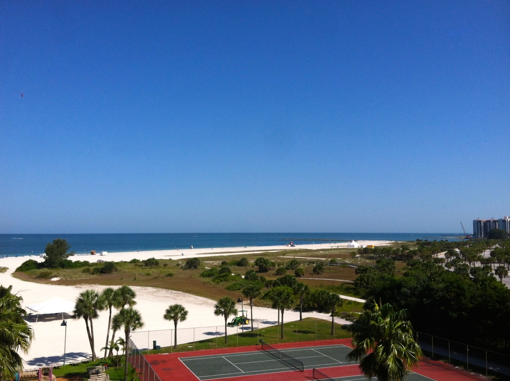 View from my hotel room, Sheraton Sand Key Resort in Florida