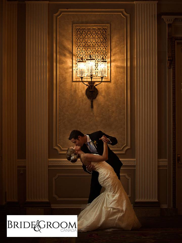 Bride and groom magazine published Chateau Laurier wedding