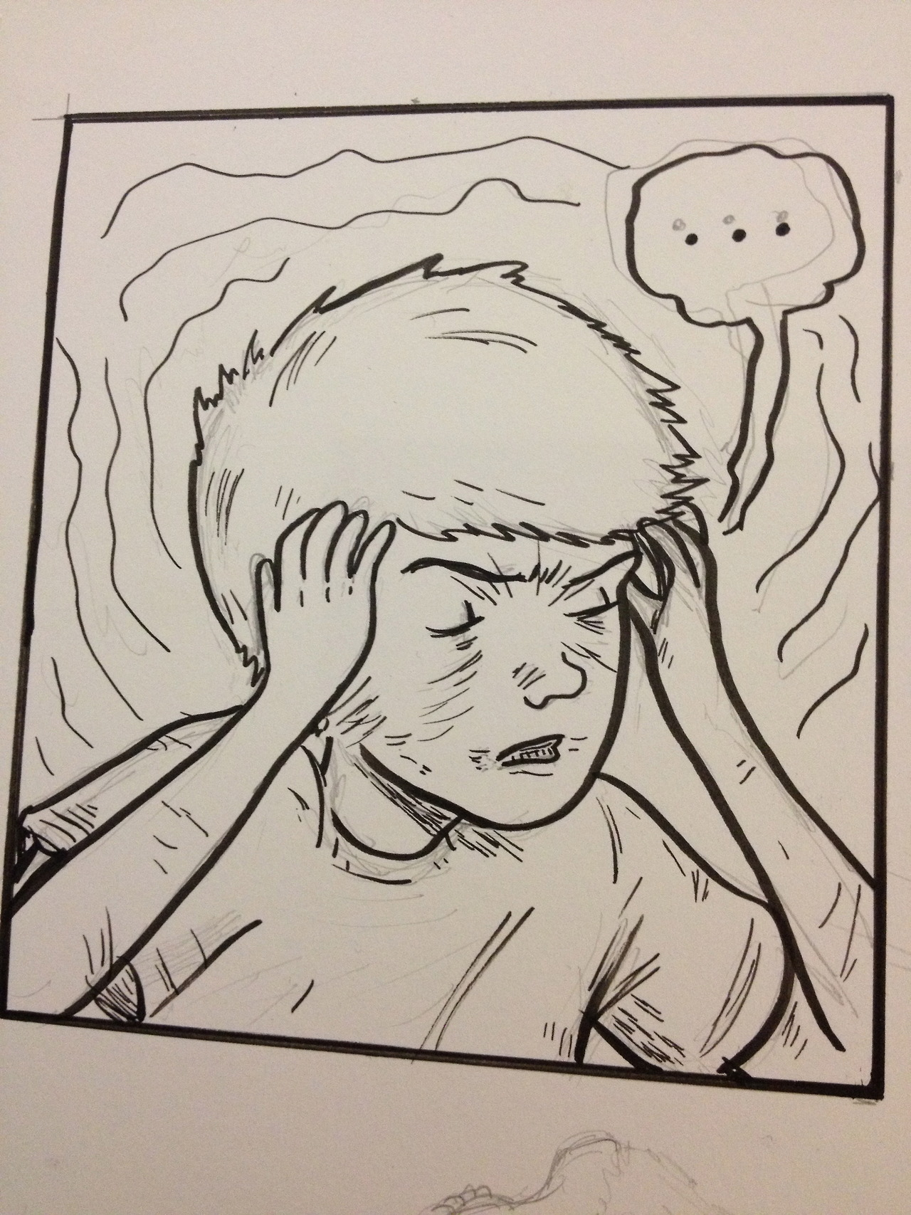 my new comic will include dramatic things like headaches.