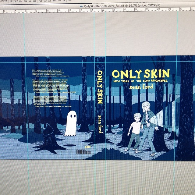 Working on the cover for the Only Skin reprint.