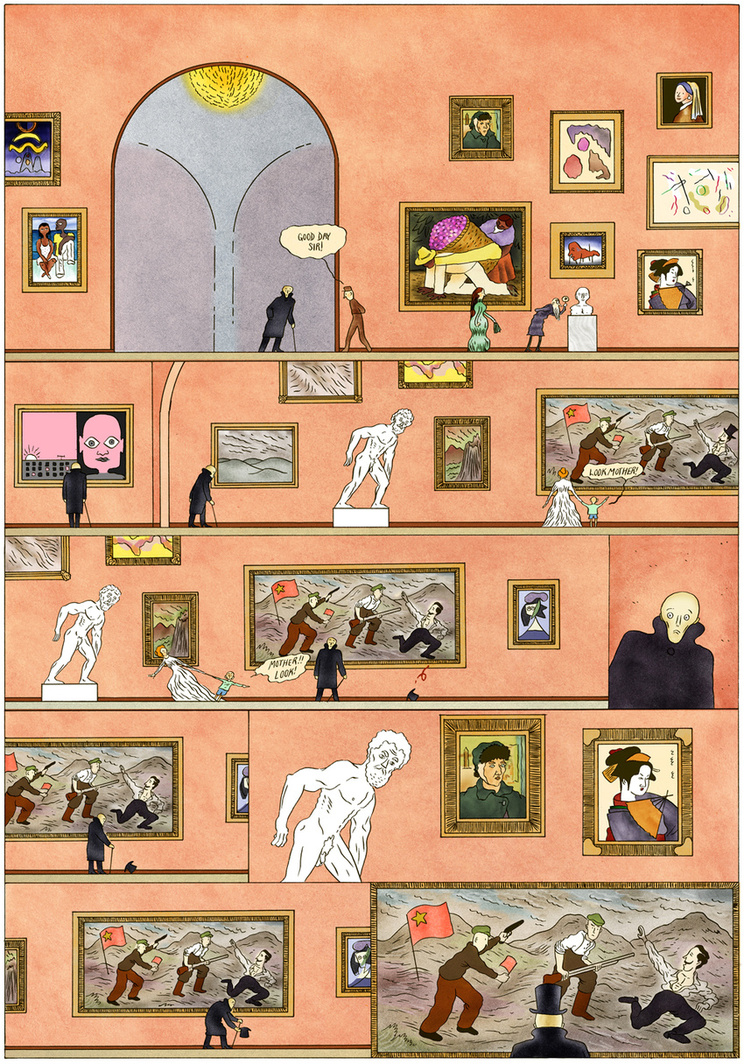 "museumnerd :     "" Museum: Third Gallery "" by  Rui Tenreiro  on Tiny Showcase.   More info on Rui's website:   http://www.theculturefront.com/books/museum/       Love this guy's work."