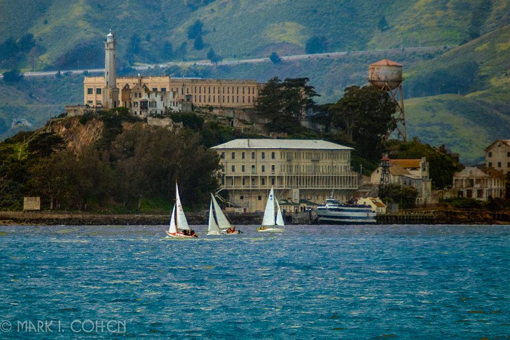 Boating near Alcatraz, San Francisco Bay 2010