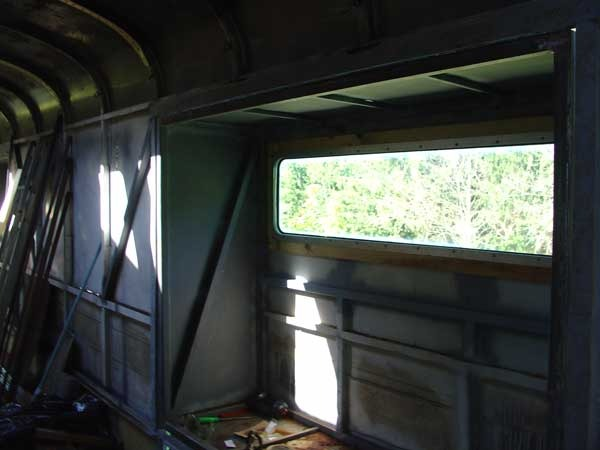 Rear window installed interior view