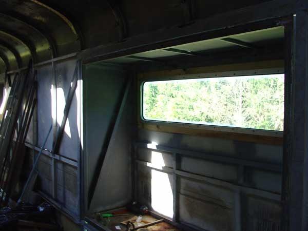Rear window installed interior view