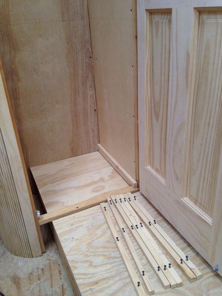 Prepping dresser drawer rails for the closets...