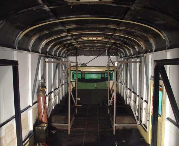 Rear slide out frames