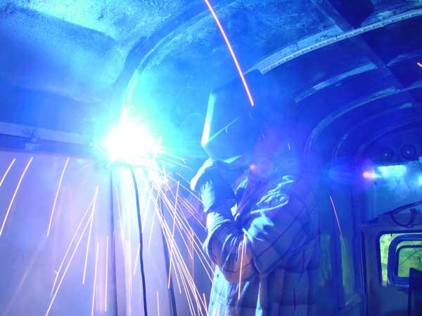 Slide out framing welding