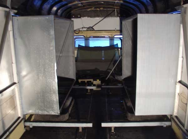 Rear slide outs installed and pulled in