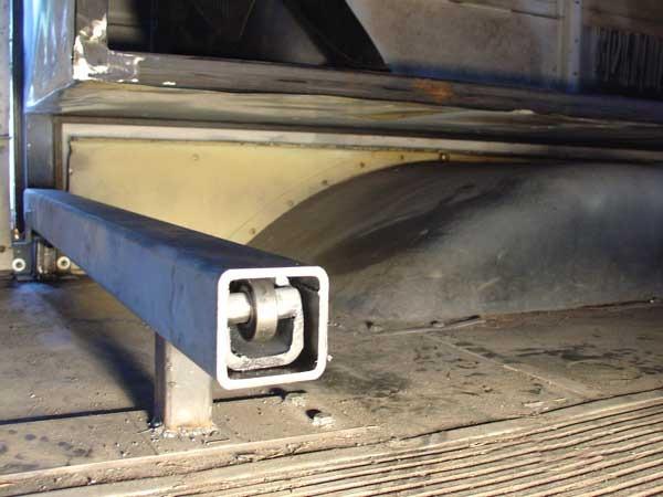 Rear slide tube installed to slide and floor