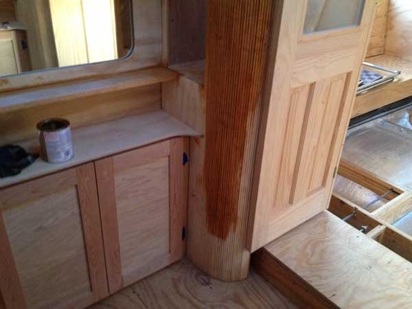 Pictures of the finished cabinetry will be coming soon...