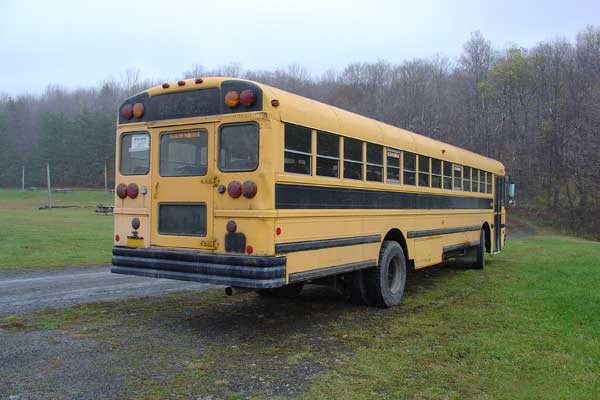 Original bus rear view