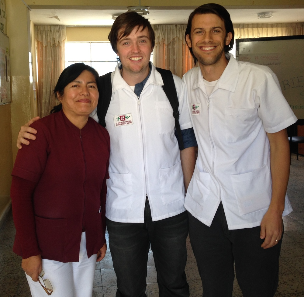 Andrew and Justin with Rosario who works with adolescents in Hunter. Rosario always makes time for us and is happy to help. She helped us get our first 10 patients!