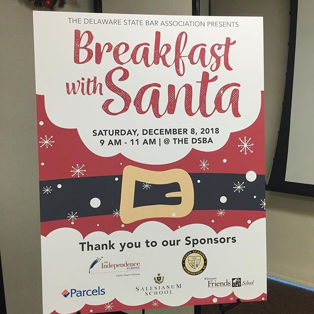 We enjoyed the first annual Santa Breakfast - thank you to @delstatebar for putting together a great family friendly event! #dsbabelieves #inwilm