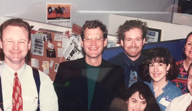 Me, Dave (and others) at KHOU 11 Houston, 1993