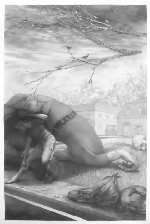 "David II, 22""x15,"" Graphite on Rives BFK, 2013"