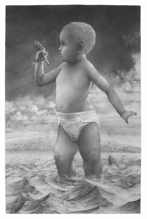 """Colossus, 22""""x15,"""" Graphite on Rives BFK, 2013"""