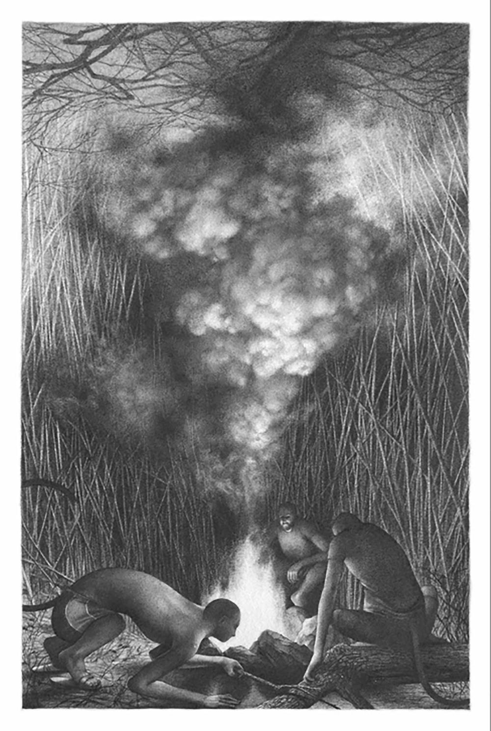 """19, 22""""x15,"""" Graphite on Rives BFK, 2013"""