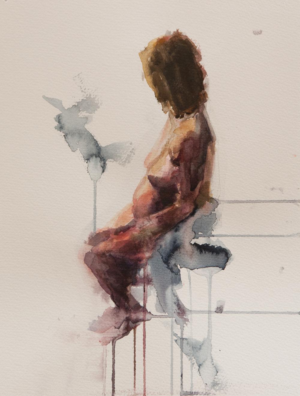 Figure Study Pregnant Model