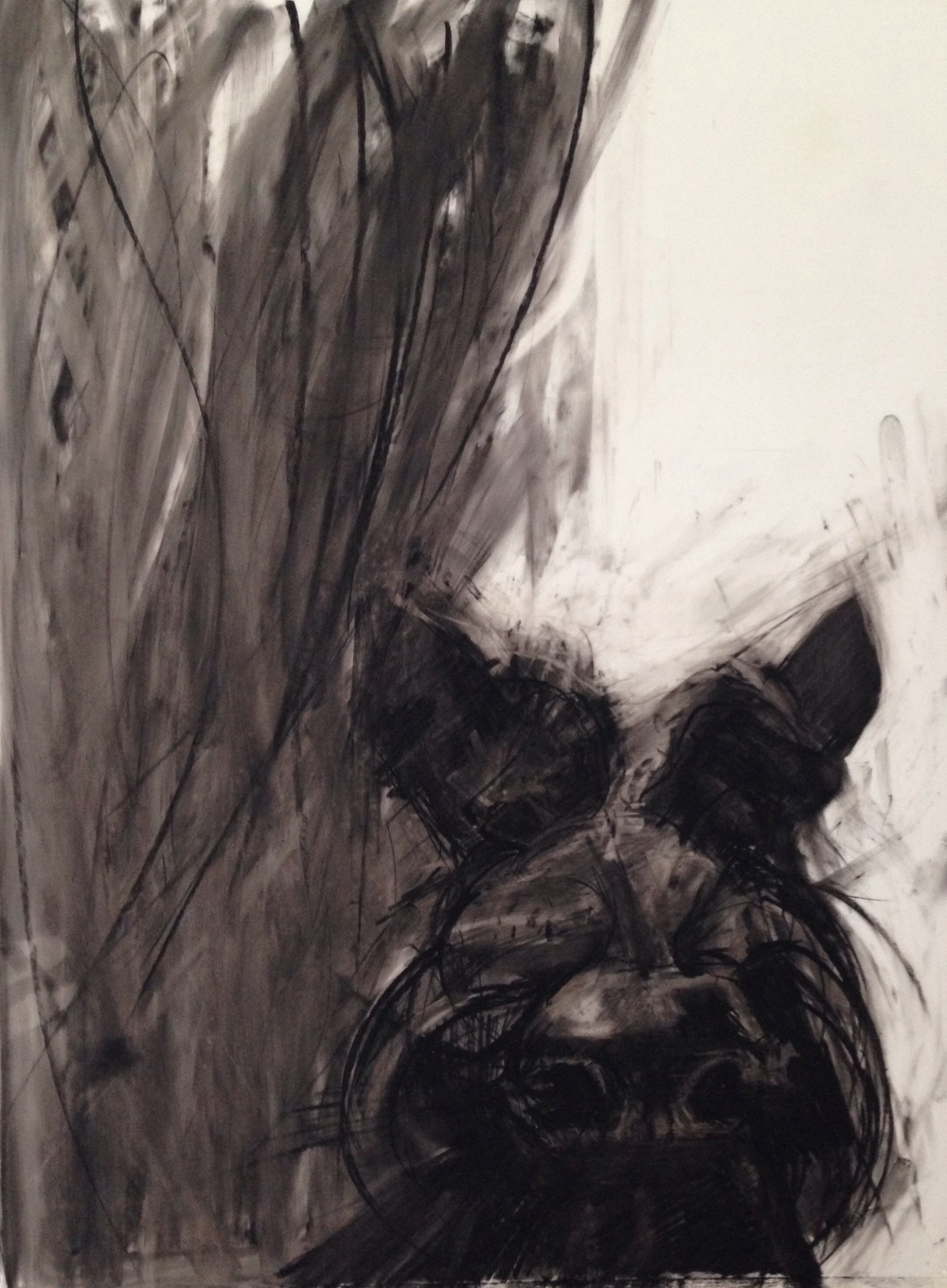 No 2 Scottie Dog, Charcoal and Conte on Mylar, A3