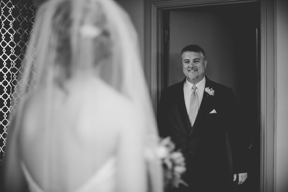 First look with the father of the bride, such a sweet moment.