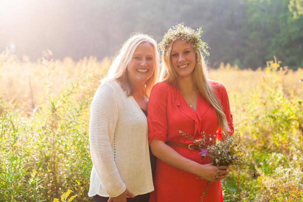 The light was so perfect that I had to ask Samantha's sweet mom Maria to join. One of my favorite Mother & Daughter photos!