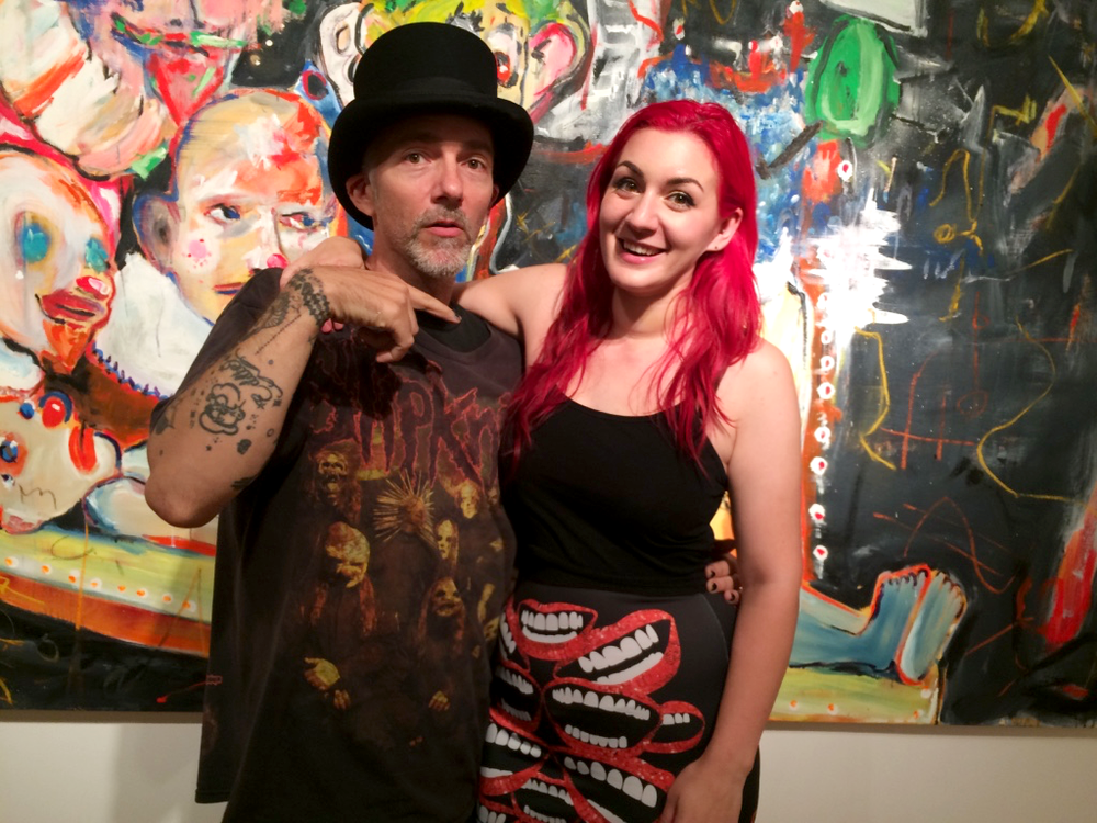 "Darian Brenner and Scooter LaForge at the opening of ""How to Create a Monsterpiece"""