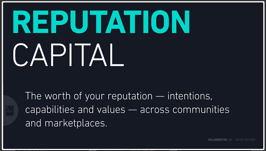 "Rachel Botsman ""Reputation Capital"" (2012)"