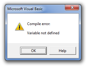 Dim Compile Error Dialog Box