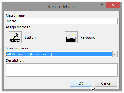 How To Create Personal VBA Macro File Microsoft Word