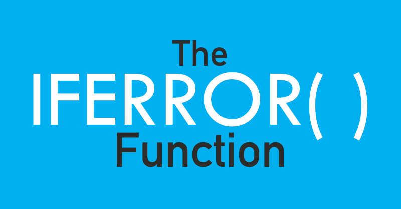 Iferror Excel Funtion