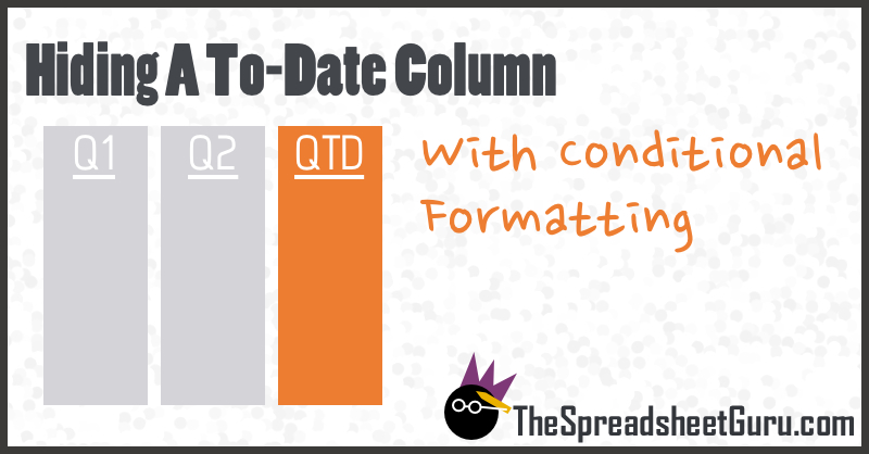 Month Quarter To Date Conditional Formatting Column Excel