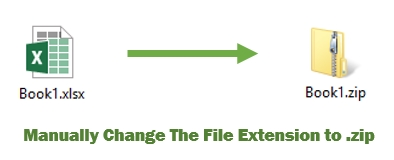 Change Excel File To Zip File By Renaming Extension