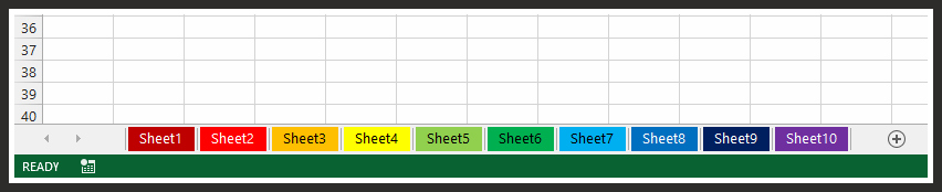 Remove Excel Tab Colors With VBA Code