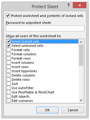 Microsoft Excel Worksheet Password Security Protection