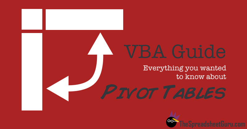 Microsoft Excel Pivot Tables VBA Macro Codes