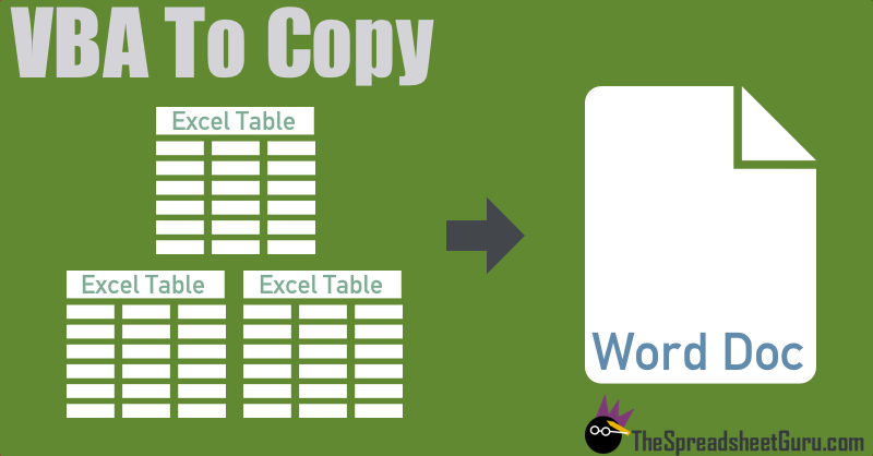 Copy Paste Multiple Excel Tables Into Microsoft Word With VBA – Vba Copy Worksheet