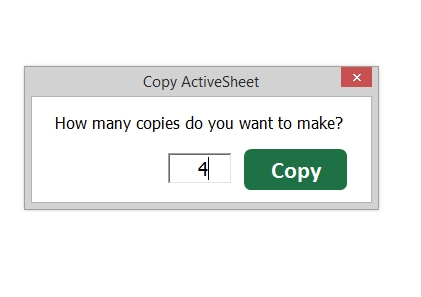 Copy Active Sheet