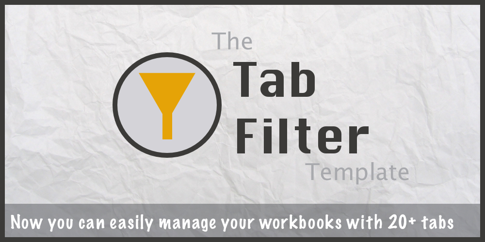The Tab Filter Excel Template