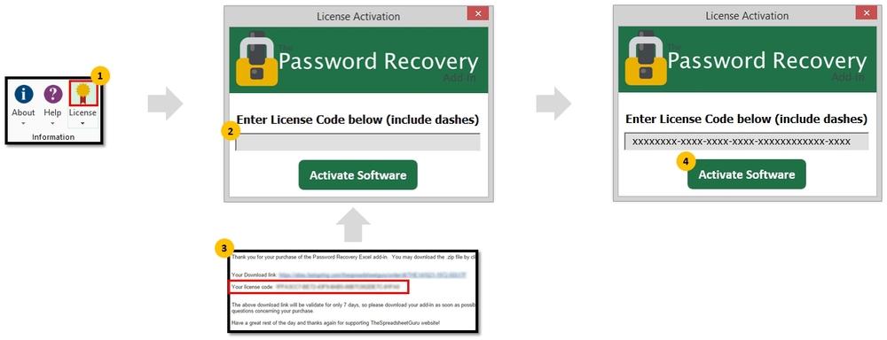 zip password recovery activation code