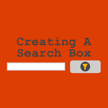 how to create a search box in php