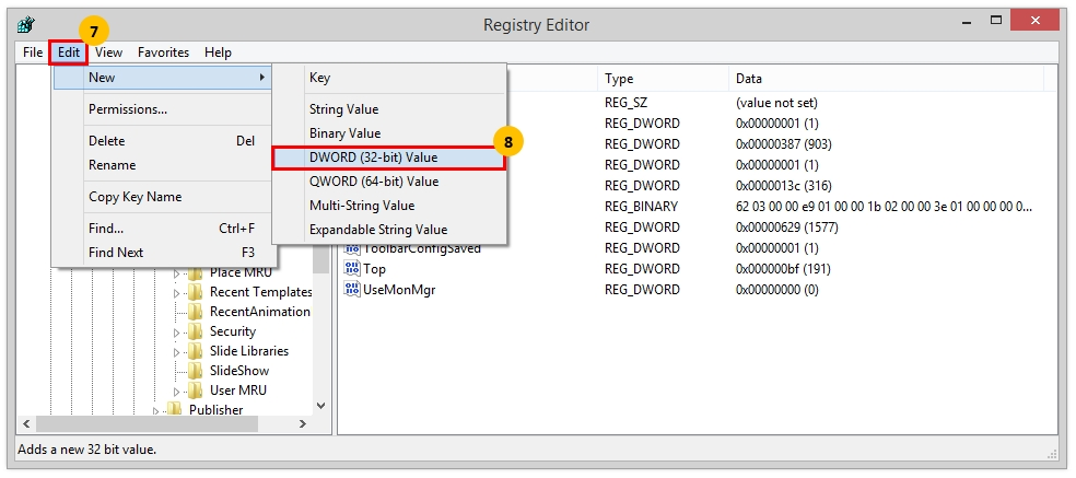 iew Microsoft PowerPoint Add-in VBA macro code - Modify Registry Steps