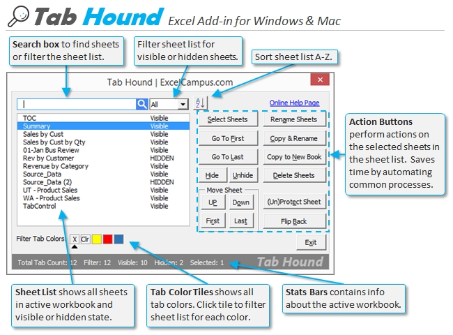 Tab Hound Userform
