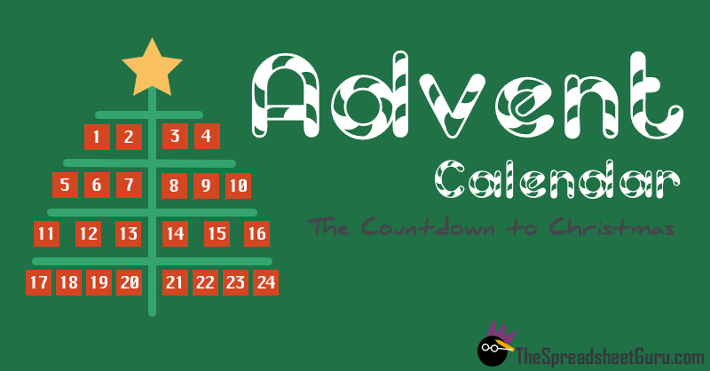 Microsoft Excel Christmas Advent Countdown Calendar Quiz Game