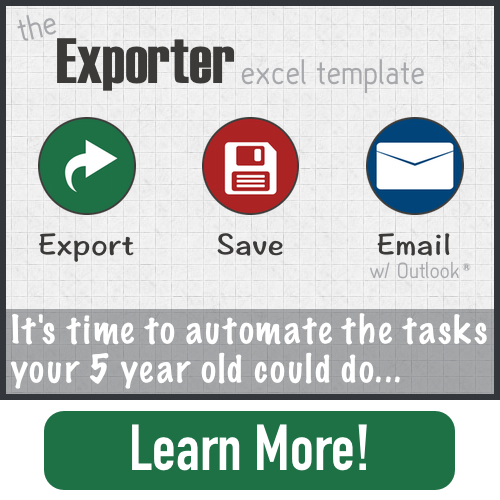 The Exporter Microsoft Excel Template