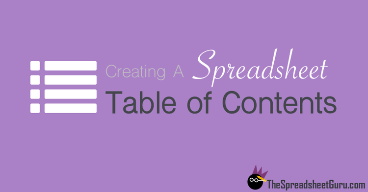 Automate Building A Table Of Contents For Your Spreadsheet With Vba