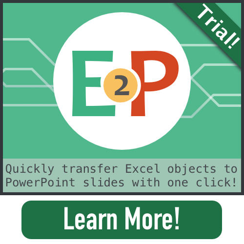 E2P Excel to PowerPoint Add-in