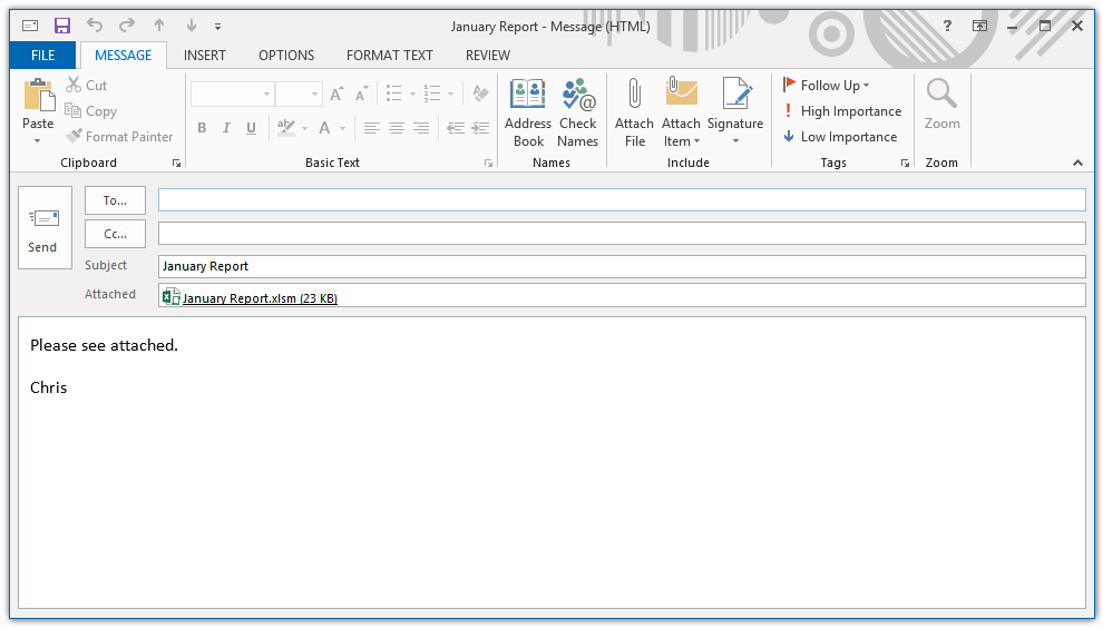The VBA Guide To Sending Excel Attachments Through Outlook ...