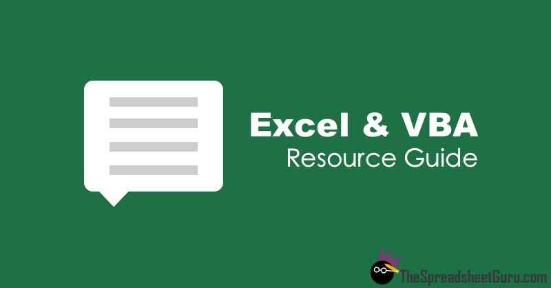 Excel & VBA Blog Forum Resource Directory Guide